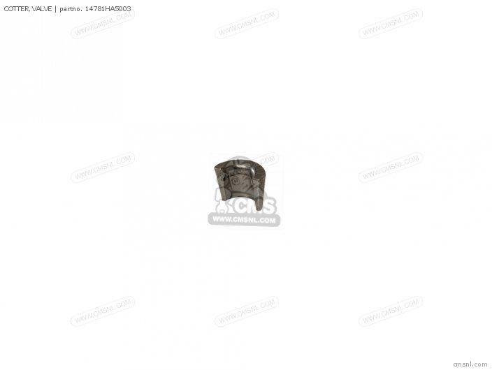 (14781-MB4-000) COTTER, VALVE