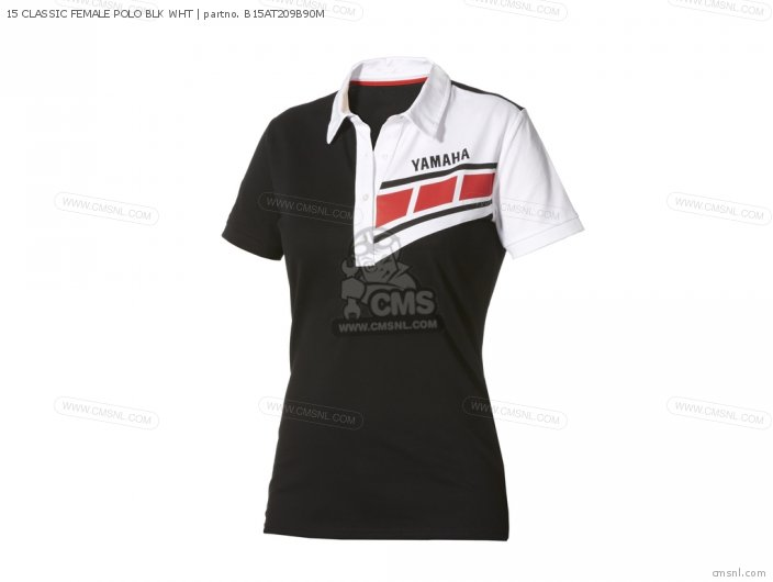 Apparel 15 Classic Female Polo Blk Wht