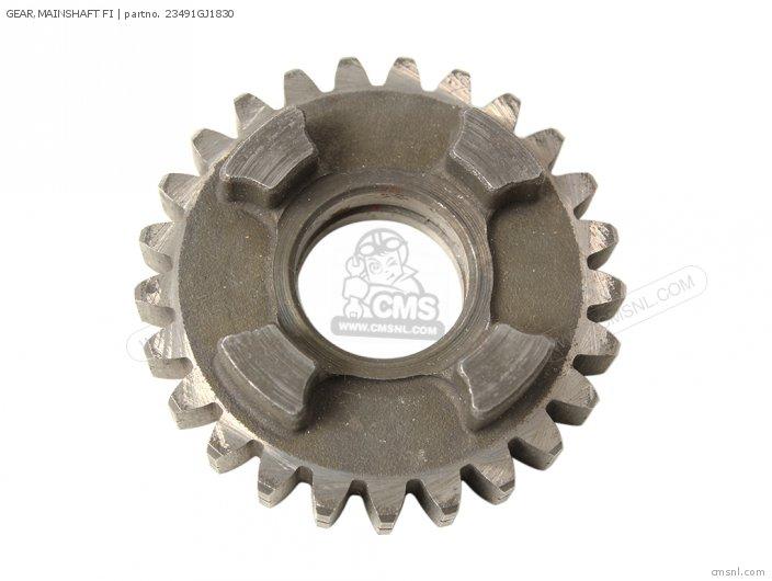 Crm75r 1989 k Spain 23461-166-600 Gear mainshaft Fi