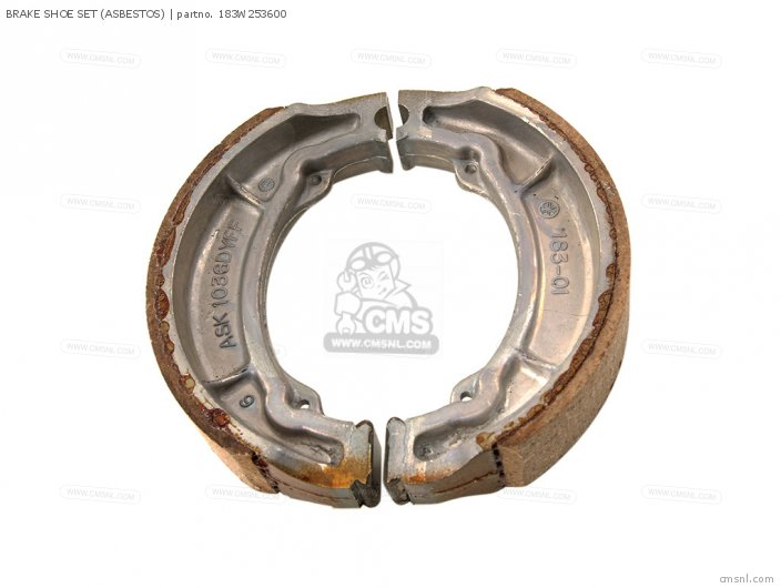 Yfm100t 1987 3kg-w253e-00 Brake Shoe Set asbestos