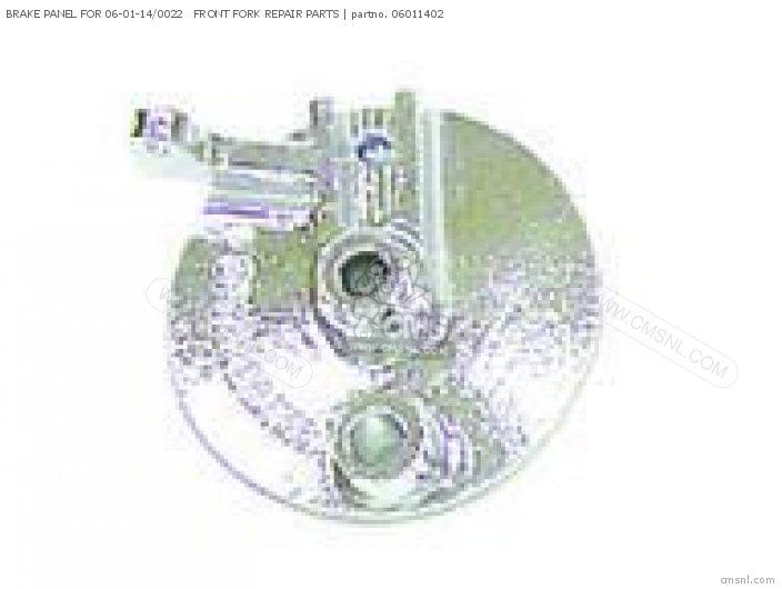 (45100-165-T00) BRAKE PANEL FOR 06-01-14/0022   FRONT FORK REPAI