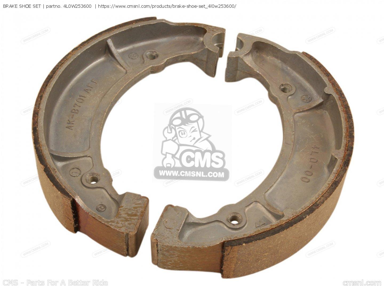 Brake Shoe Web : R w brake shoe set yds usa l