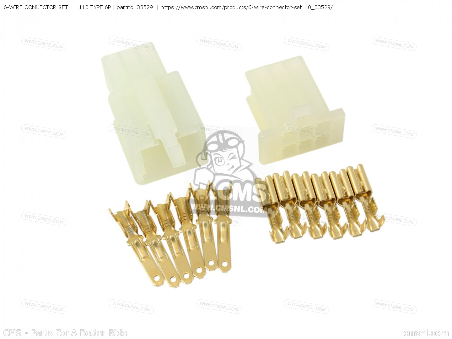 6-WIRE CONNECTOR SET 110 TYPE 6P, fits Electrical maintenance parts ...