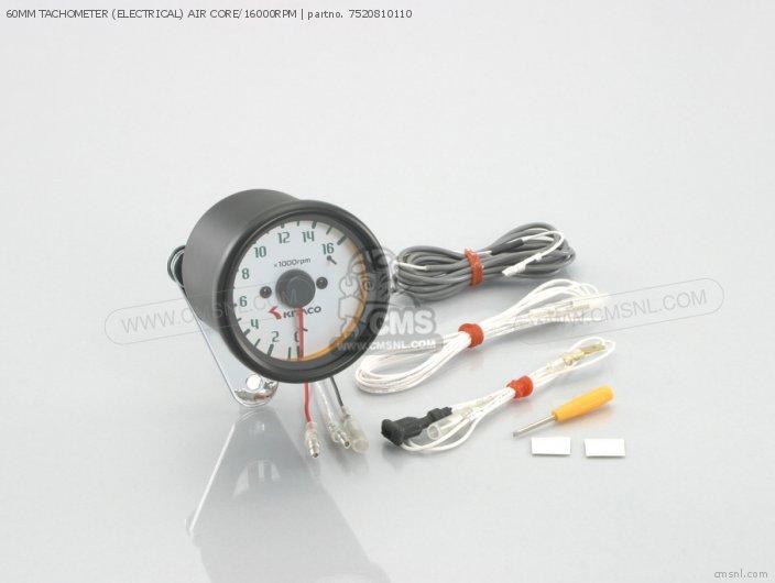 60MM TACHOMETER (ELECTRICAL) AIR CORE/16000RPM