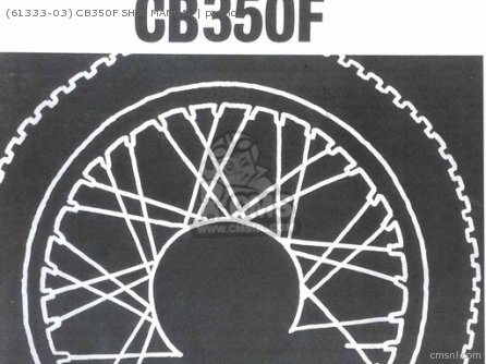Shop Manuals 61333-03 Cb350f Shop Manual