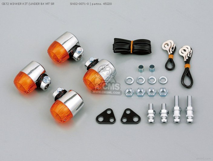 72375 CB72 WINKER KIT UNDER BK MT SR                SN02-0071