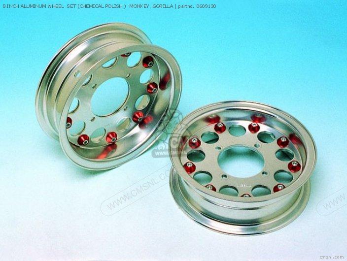 8 Inch Aluminum Wheel  Set (chemical Polish )  Monkey ,gorilla photo