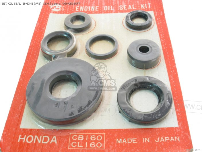 (90000-216-000) SET, OIL SEAL  ENGINE (ARS) OEM