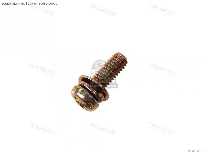 (90011-436-003) SCREW SET,4X10