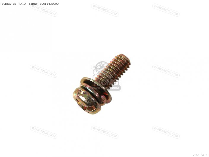 (90011436003) SCREW SET,4X10