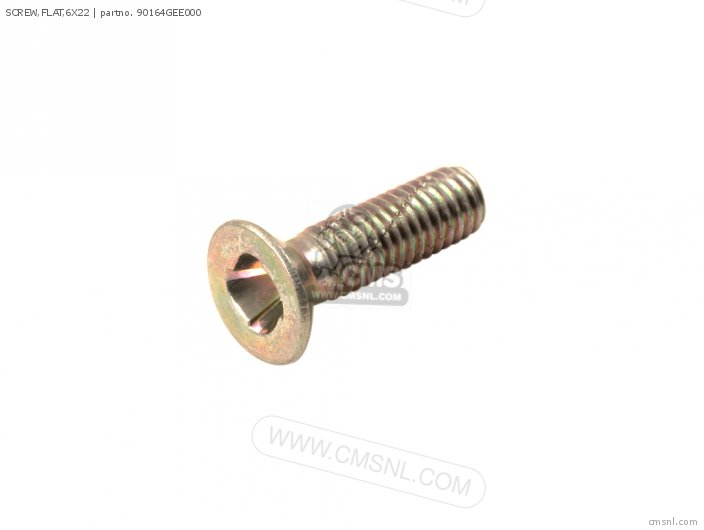 (90164GEE003) SCREW,FLAT,6X22