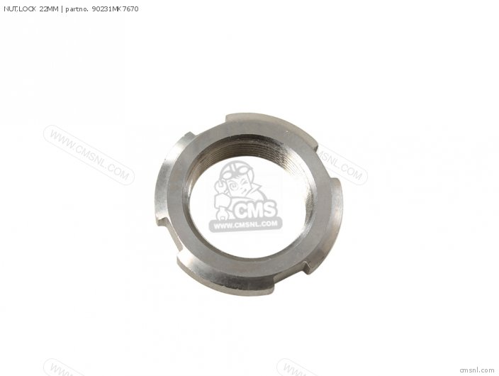 (90231MZ7000) NUT,LOCK 22MM