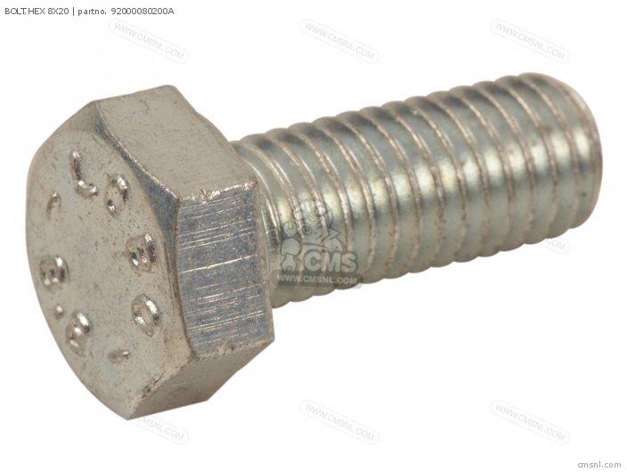 92101-080200A BOLT HEX 8X20