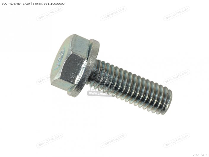 (934010602000) BOLT-WASHER,6X20