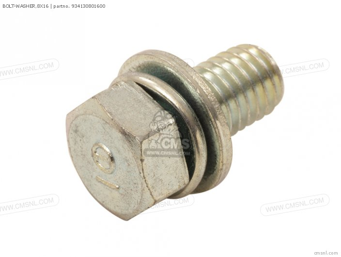 (934030801600) BOLT-WASHER,8X16