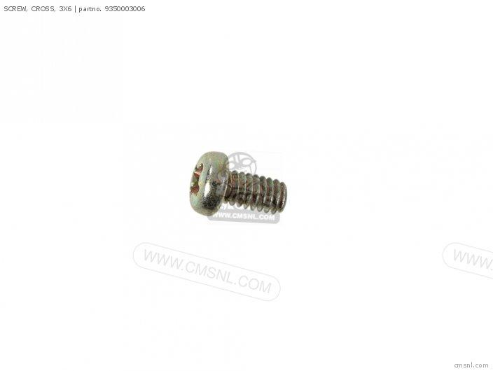 (93500-030060A) SCREW, CROSS, 3X6