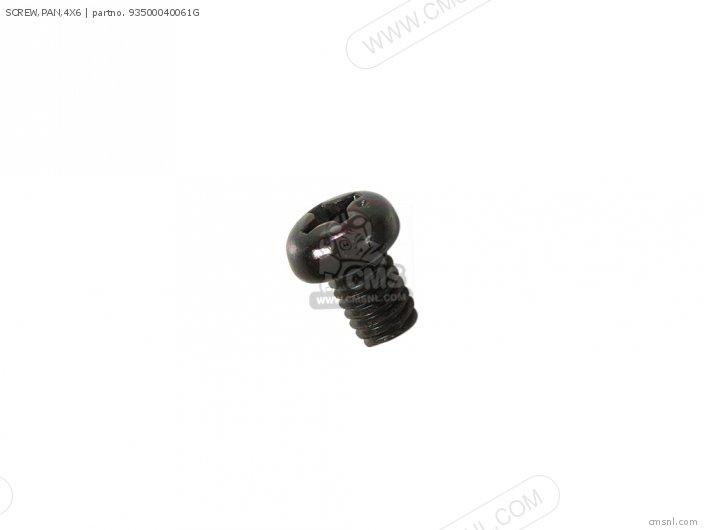 (93500-040060G) SCREW, PAN,4X6