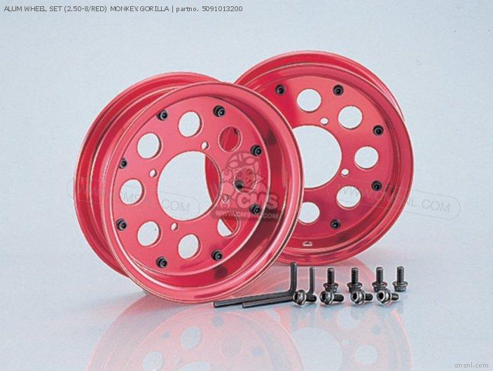 Alum Wheel Set (2.50-8/red) Monkey.gorilla photo