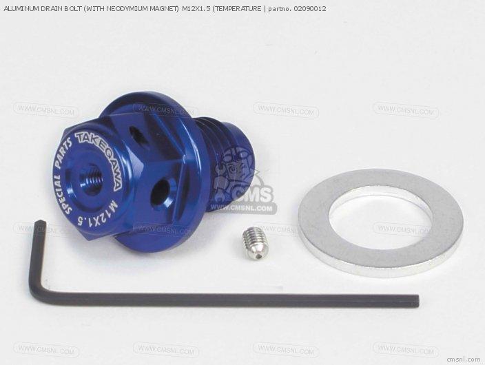 Aluminum Drain Bolt (with Neodymium Magnet) M12x1.5 (temperature photo