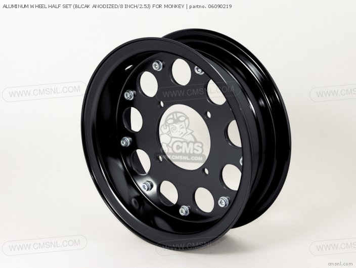 Aluminum Wheel Half Set (blcak Anodized/8 Inch/2.5j) For Monkey photo