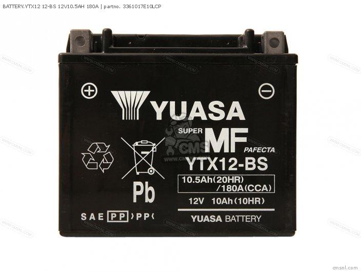 Battery.ytx12 12-bs 12v10.5ah 180a photo