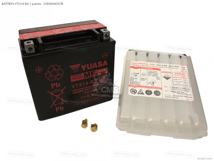 Battery, Ytx14-bs photo