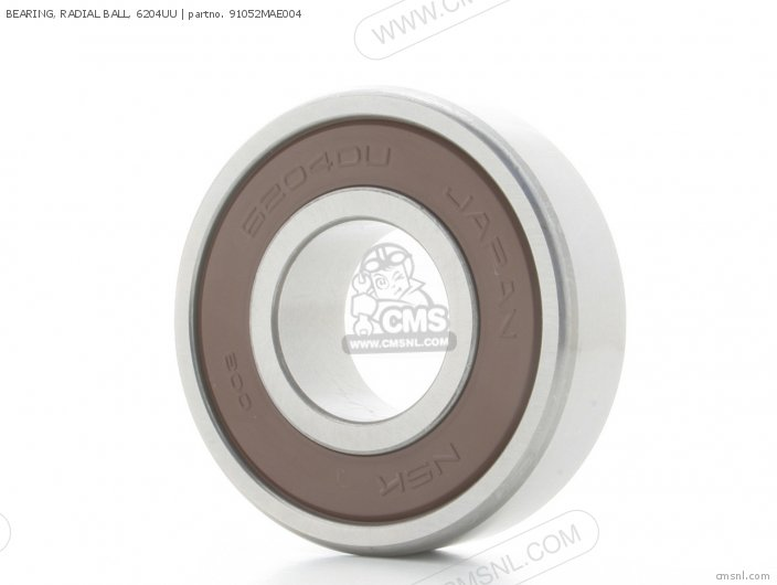 Bearing, Radial Ball, 6204uu photo