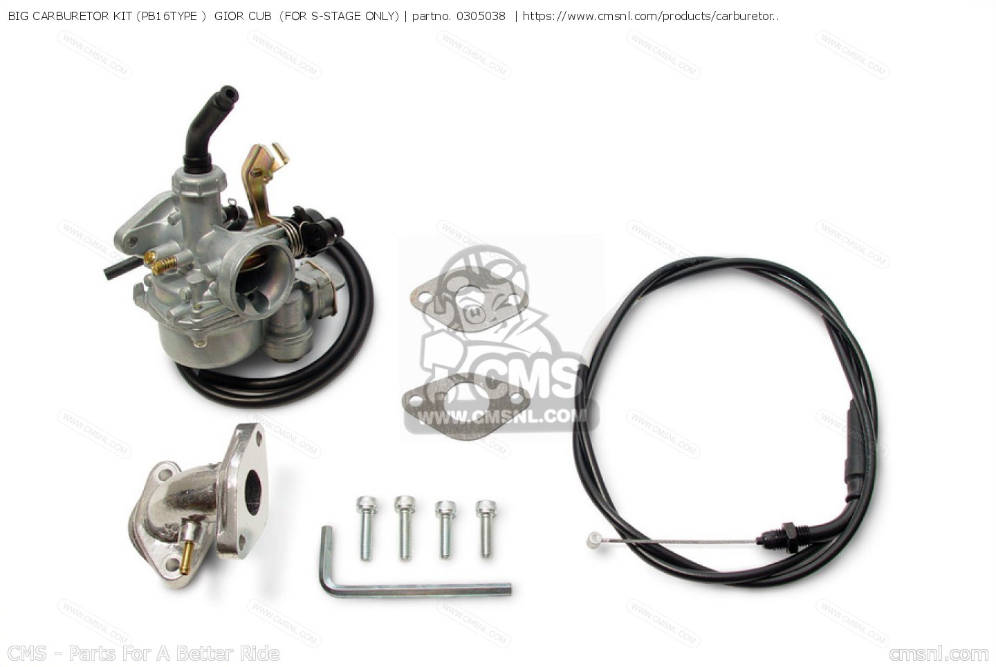 BIG CARBURETOR KIT (PB16TYPE ) GIOR CUB (FOR S-STAGE ONLY)