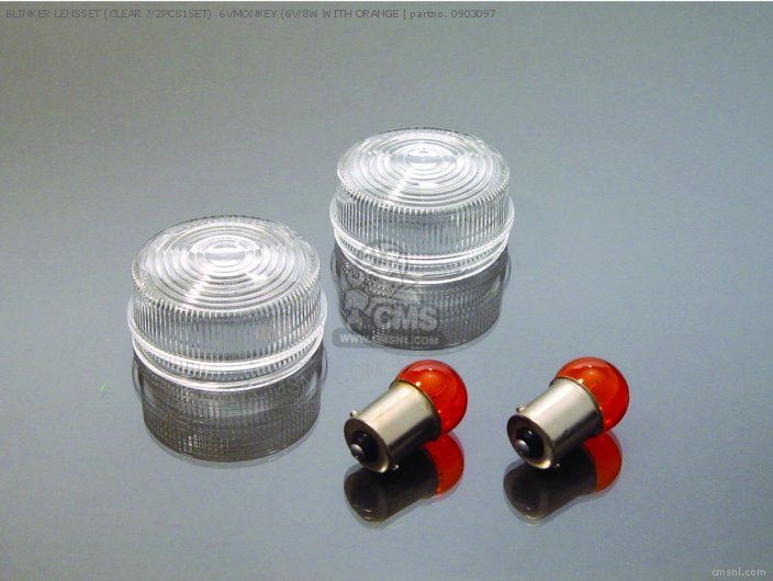 BLINKER LENSSET (CLEAR ?/2PCS1SET) 6VMONKEY (6V/8W WITH ORANGE B
