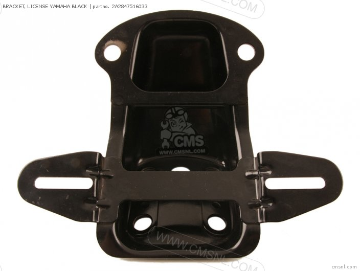 Bracket, License Yamaha Black photo