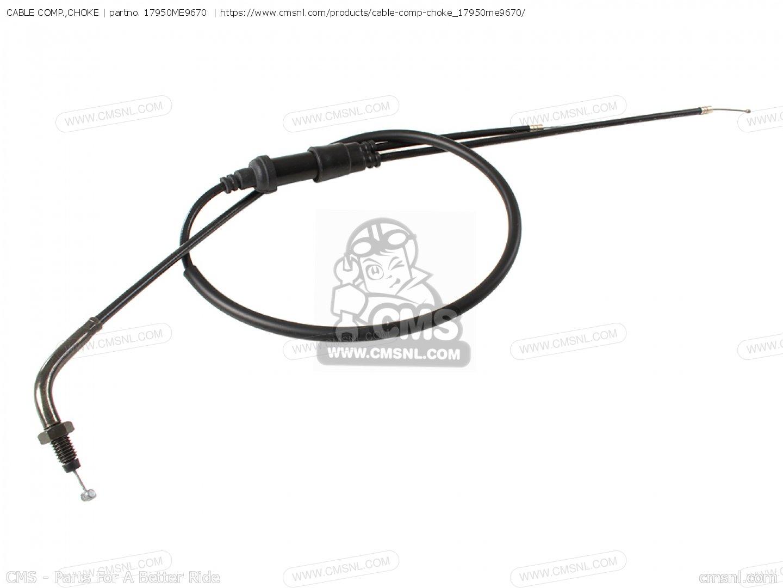 cable comp  choke  fits vt750c shadow 1983  d  usa