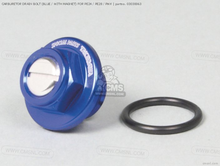 CARBURETOR DRAIN BOLT (BLUE / WITH MAGNET) FOR PE24 / PE28 / PWK