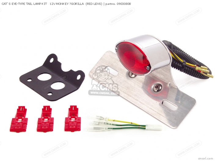 CAT'S EYE-TYPE TAIL LAMP KIT   12V MONKEY ?GORILLA  (RED LENS)