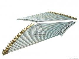 CB750K-K6, CB550F,  FRONT WHEEL SPOKE SET MILD STEEL