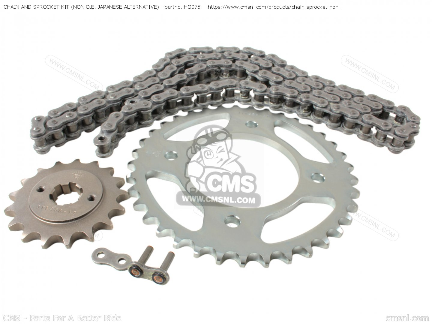 Chain and Sprocket Kit Compatible with Honda CB550 CB550F Super Sport