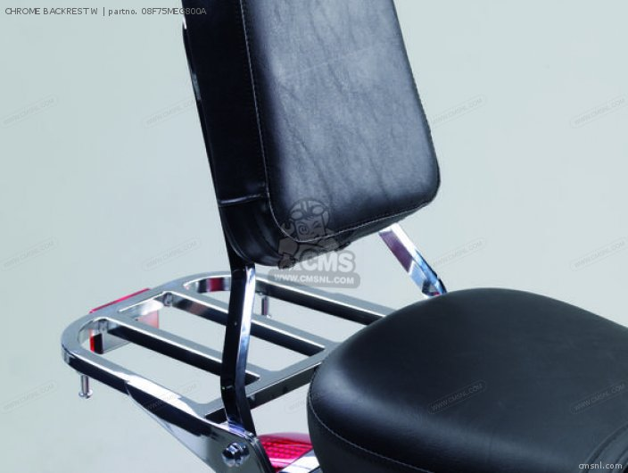 Vt750c Shadow Chrome Backrest W