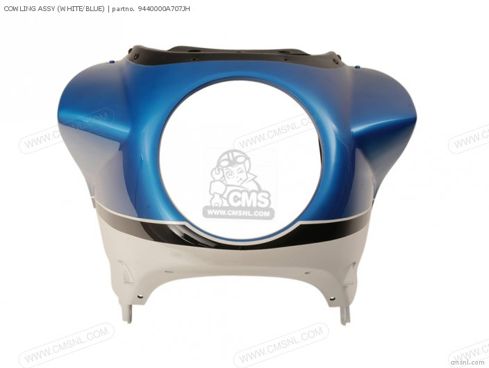 Cowling Assy (white/blue) photo