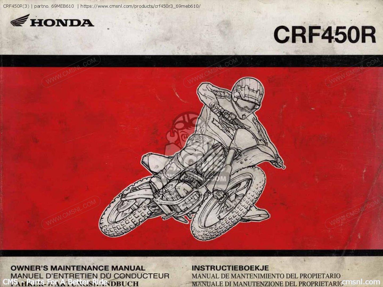 Honda Crf450r Workshop Manual