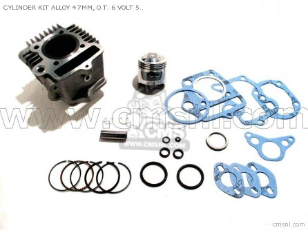 Custom Parts Cylinder Kit Alloy 47mm  O t  6 Volt 50 Head