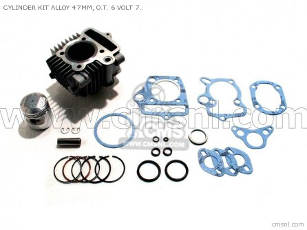 Custom Parts Cylinder Kit Alloy 47mm  O t  6 Volt 70 Head