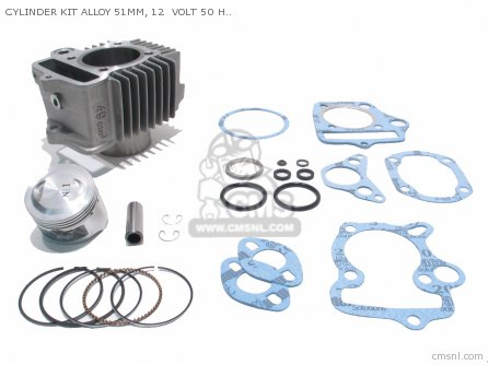 Custom Parts Cylinder Kit Alloy 51mm  12  Volt 50 Head