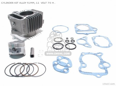 Custom Parts Cylinder Kit Alloy 51mm  12  Volt 70 Head