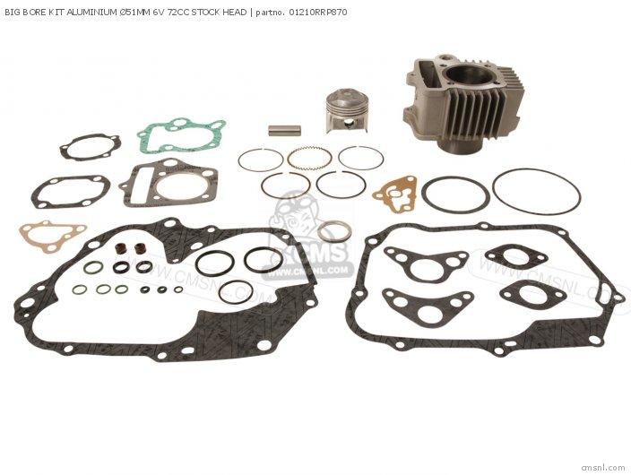 Rising Sun Tuning Parts And Custom Parts Cylinder Kit Alloy Ø51  6 Volt 70 Head