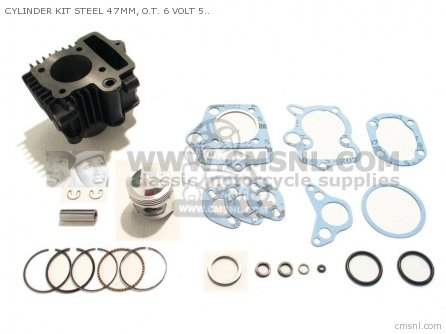 Custom Parts Cylinder Kit Steel 47mm  O t  6 Volt 50 Head