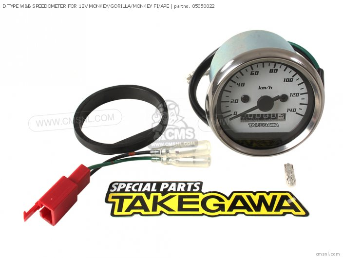 D TYPE WB SPEEDOMETER FOR 12V MONKEY GORILLA MONKEY FI APE