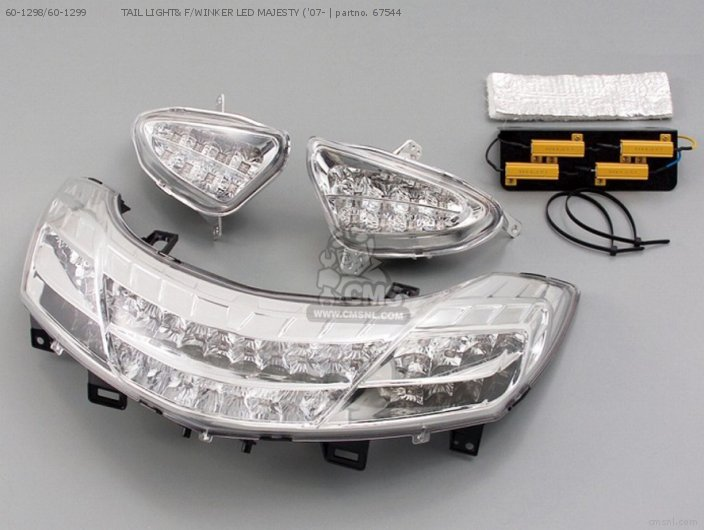60 1298/60 1299           TAIL LIGHT& F/WINKER LED MAJESTY ('07