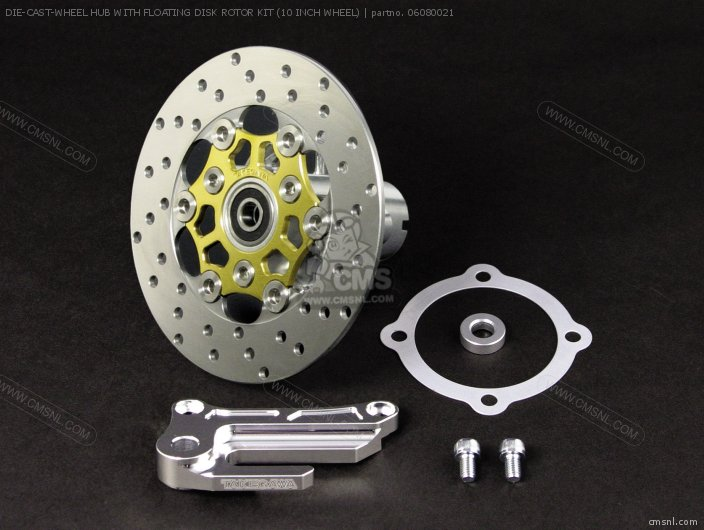 DIE-CAST-WHEEL HUB WITH FLOATING DISK ROTOR KIT (10 INCH WHEEL)