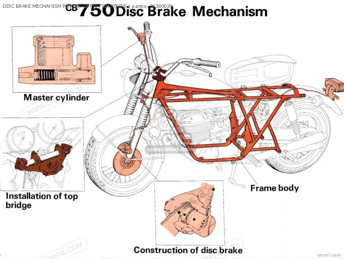 Other Disc Brake Mechanism Poster Cb750 78x105cm