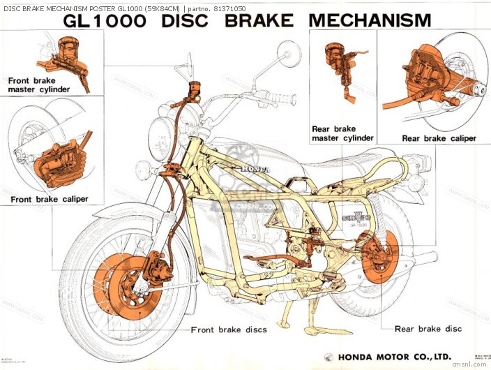 Other Disc Brake Mechanism Poster Gl1000 59x84cm