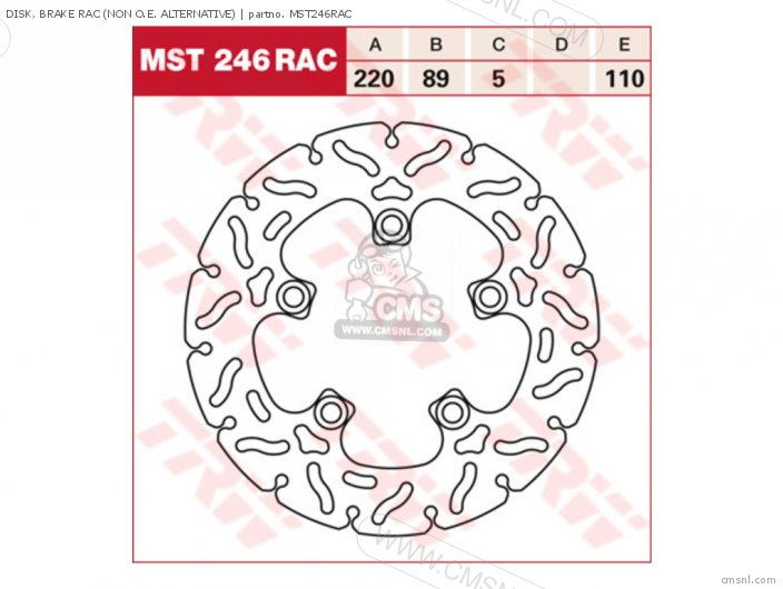 Disk, Brake Rac (non O.e. Alternative) photo